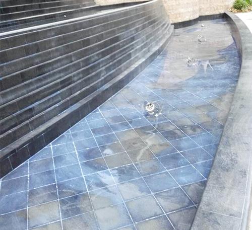 景觀噴泉水池防水